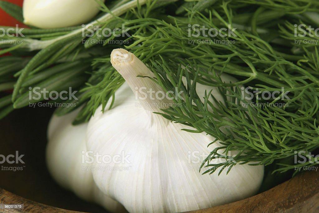 마늘, 회향 royalty-free 스톡 사진