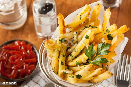 Garlic and Parsley French Fries with Ketchup
