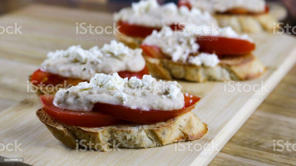 Garlic and Rosemary Bean Dip stock photo