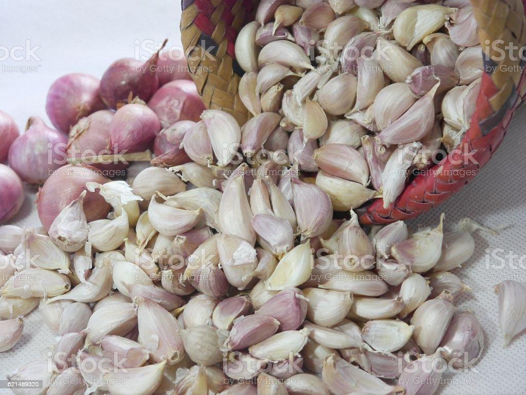Garlic And Shallot foto stock royalty-free