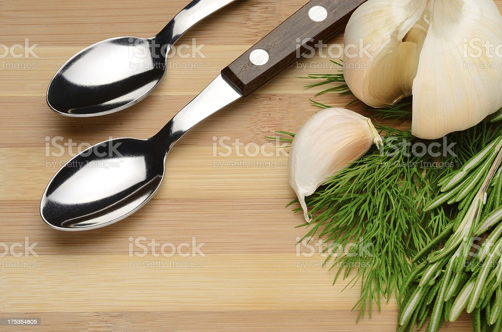 Garlic and spices royalty-free stock photo