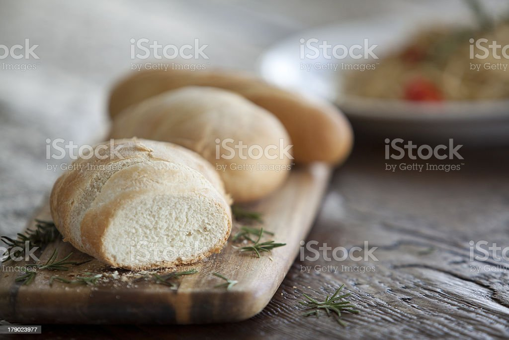 Garlic Bread and Spices royalty-free stock photo