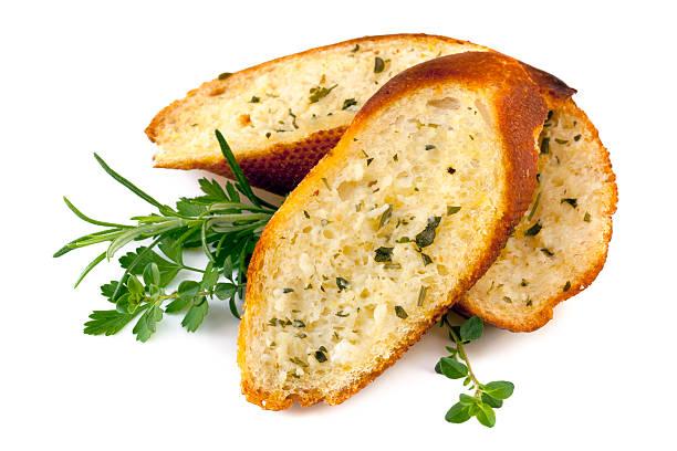 Knoblauch Brot mit Kräutern Isoliert – Foto