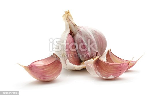 Cloves of Garlic isolated on a white background