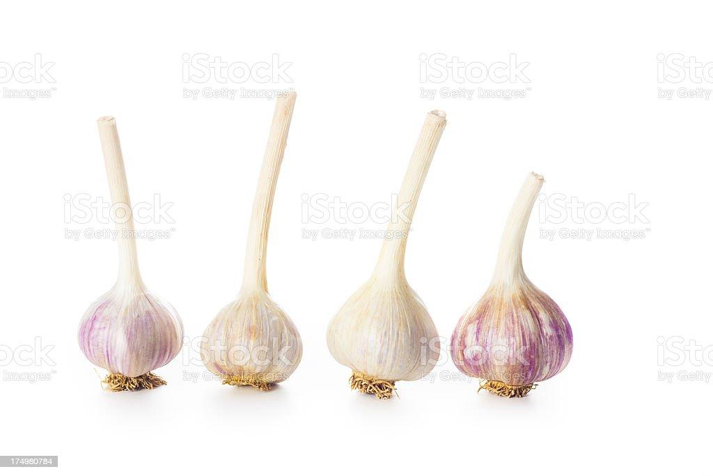 Garlic Cloves On White Background royalty-free stock photo