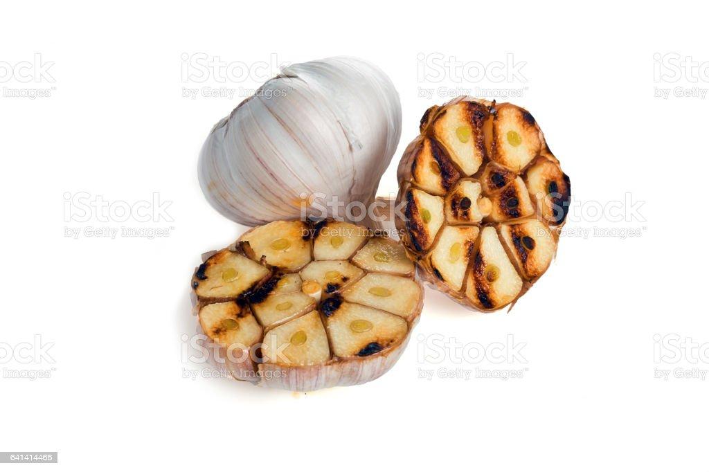 garlic  for isolation stock photo