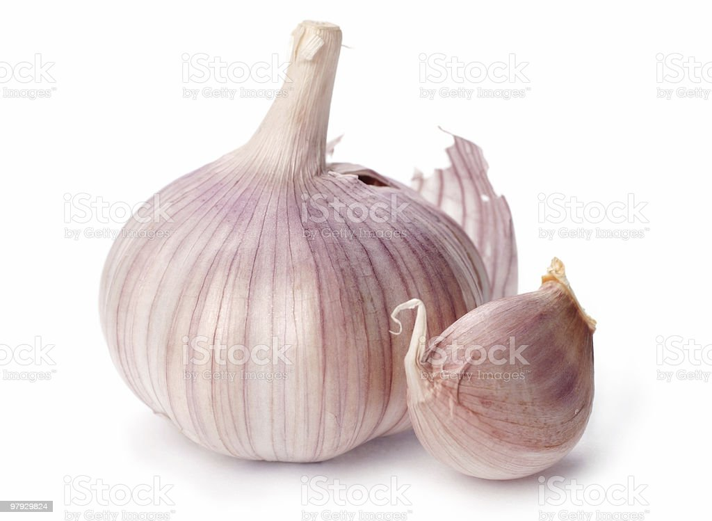 Garlic head royalty-free stock photo