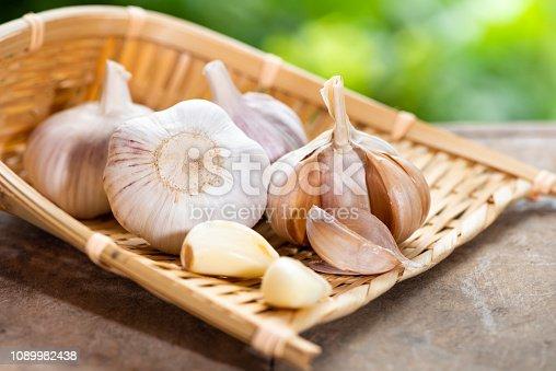 istock Garlic in the basket 1089982438