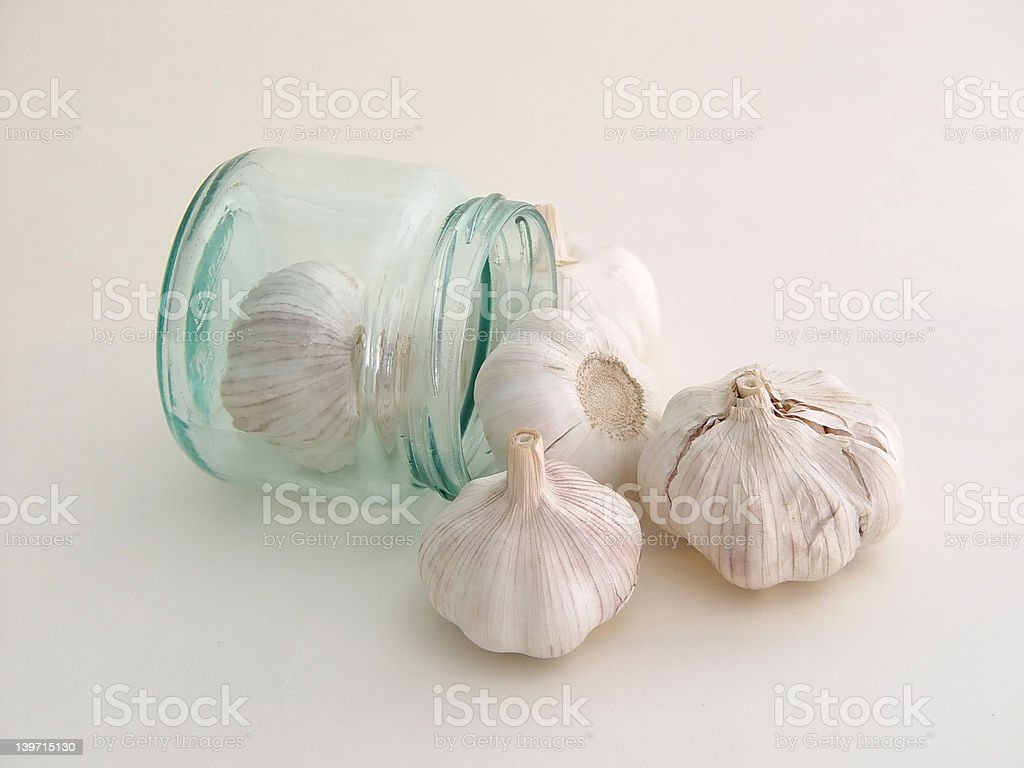 Garlic in the can (2) royalty-free stock photo