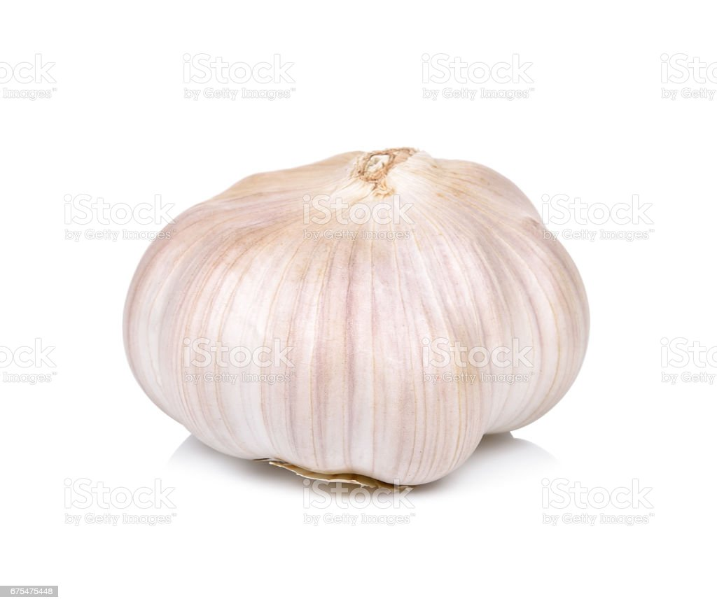 Garlic isolated on the white background photo libre de droits