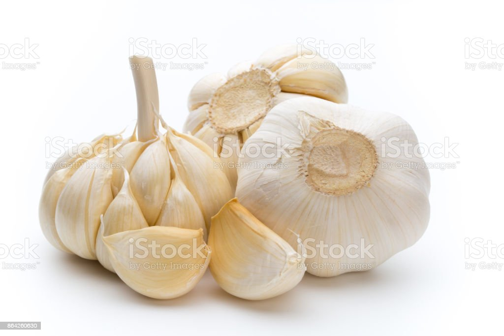 Garlic isolated on the white background. royalty-free stock photo