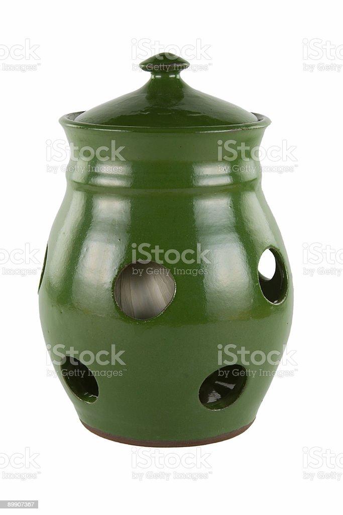 Garlic jar royalty-free stock photo