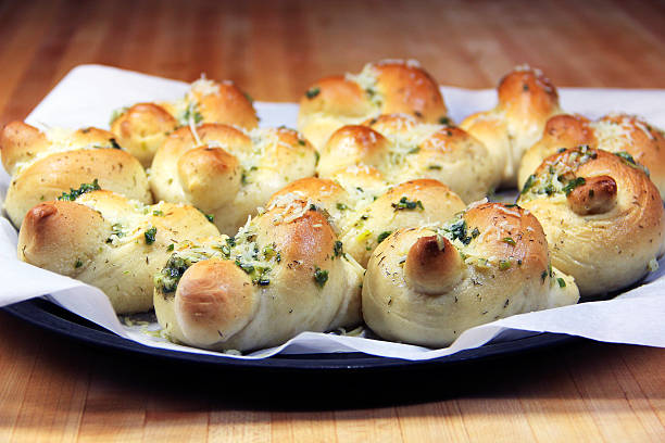 Garlic Knots stock photo