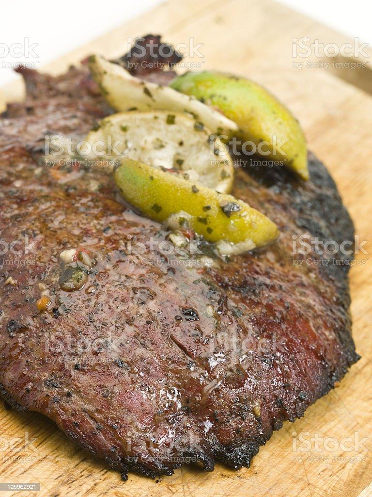 Garlic , Lime and Cilantro Marinated Skirt Steak royalty-free stock photo