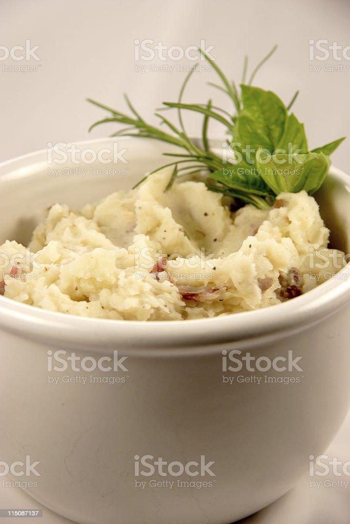 garlic mashed potatoes (holiday series) royalty-free stock photo