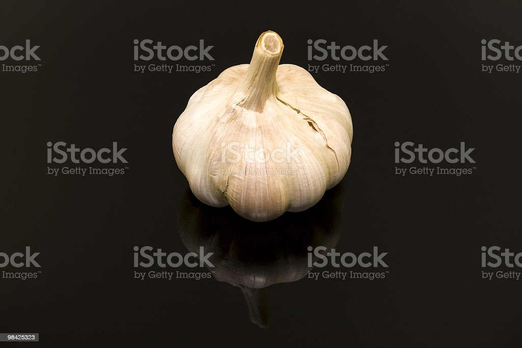 Garlic on black royalty-free stock photo
