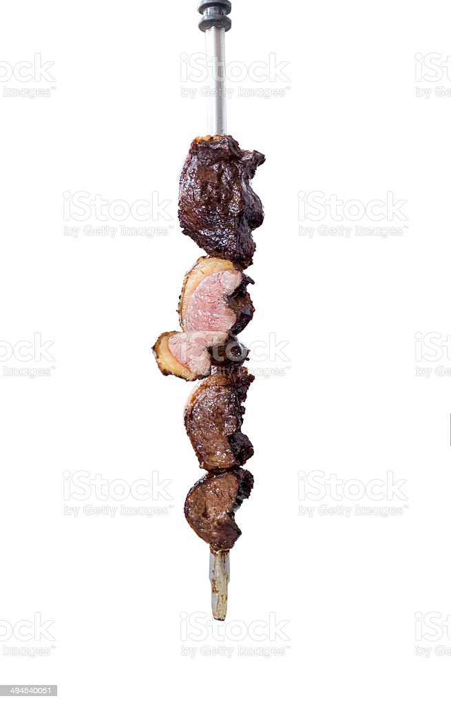 picanha com alho,traditional Brazilian barbecue. stock photo