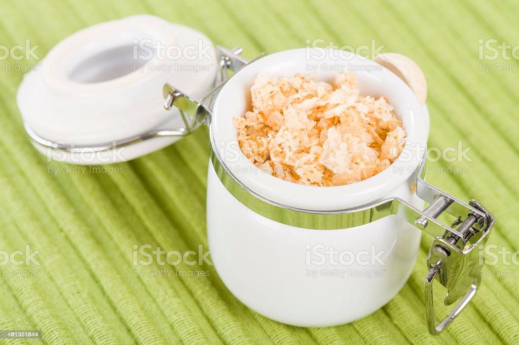 Garlic Salt stock photo