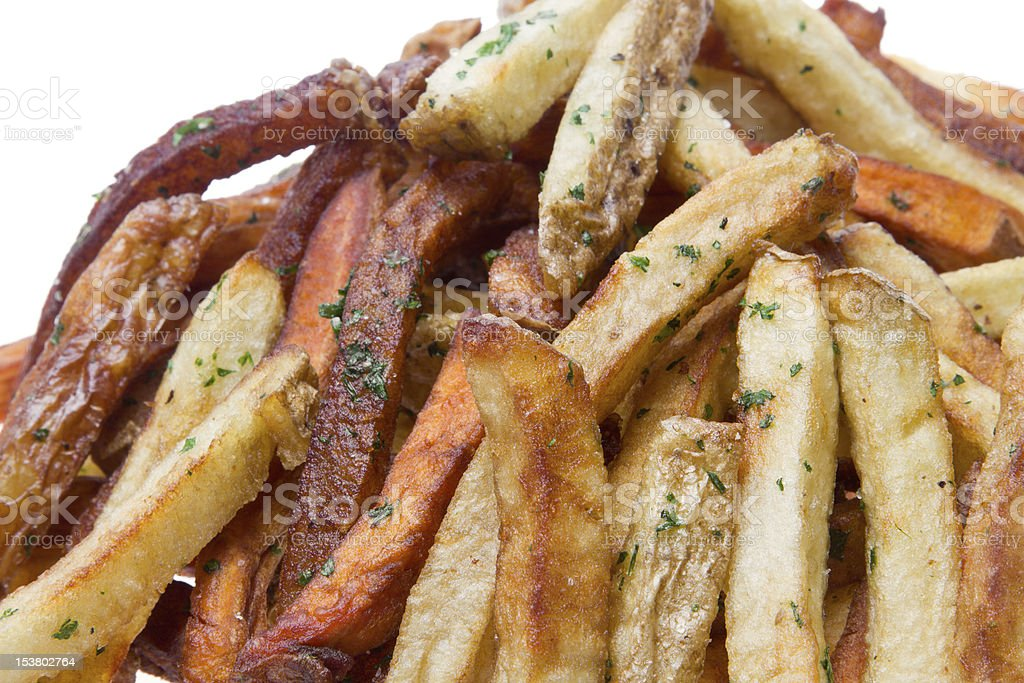 Garlic Seasoned French Fries royalty-free stock photo