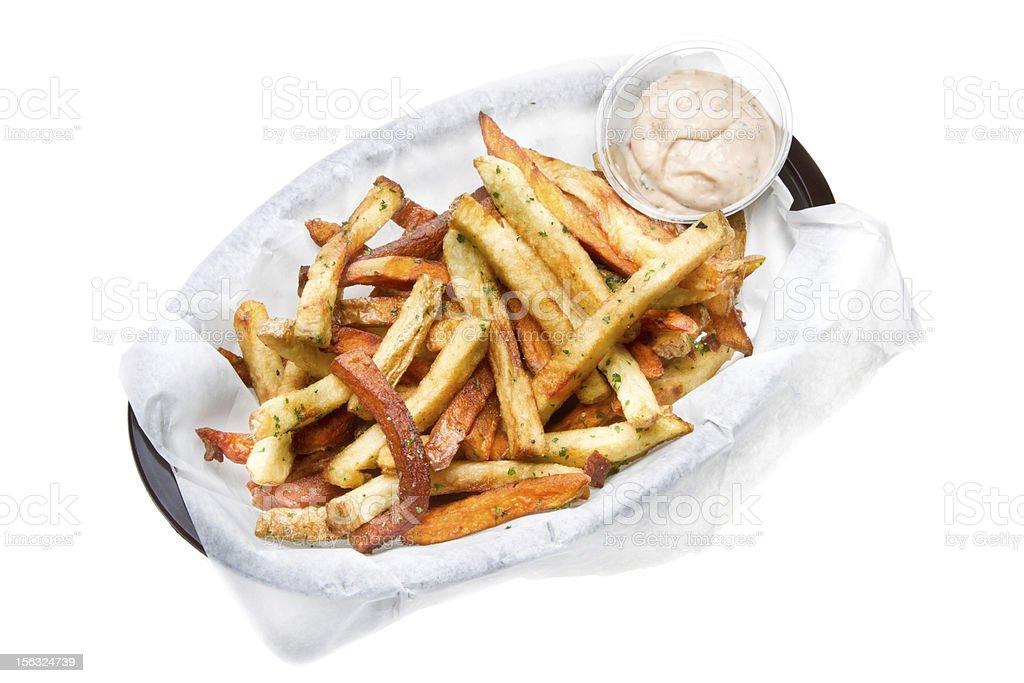 Garlic Seasoned French Fries royalty-free stock photo