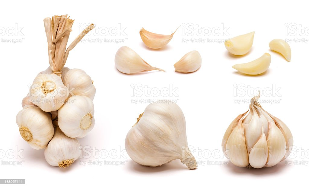 Garlic Set stock photo