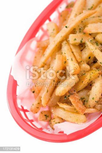 Zesty, savory hot and delicious Stadium Style Garlic Fries.