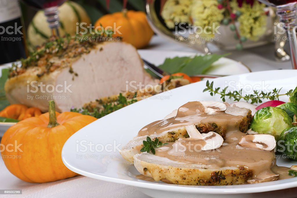 Garlic Thyme Roast Pork royalty-free stock photo