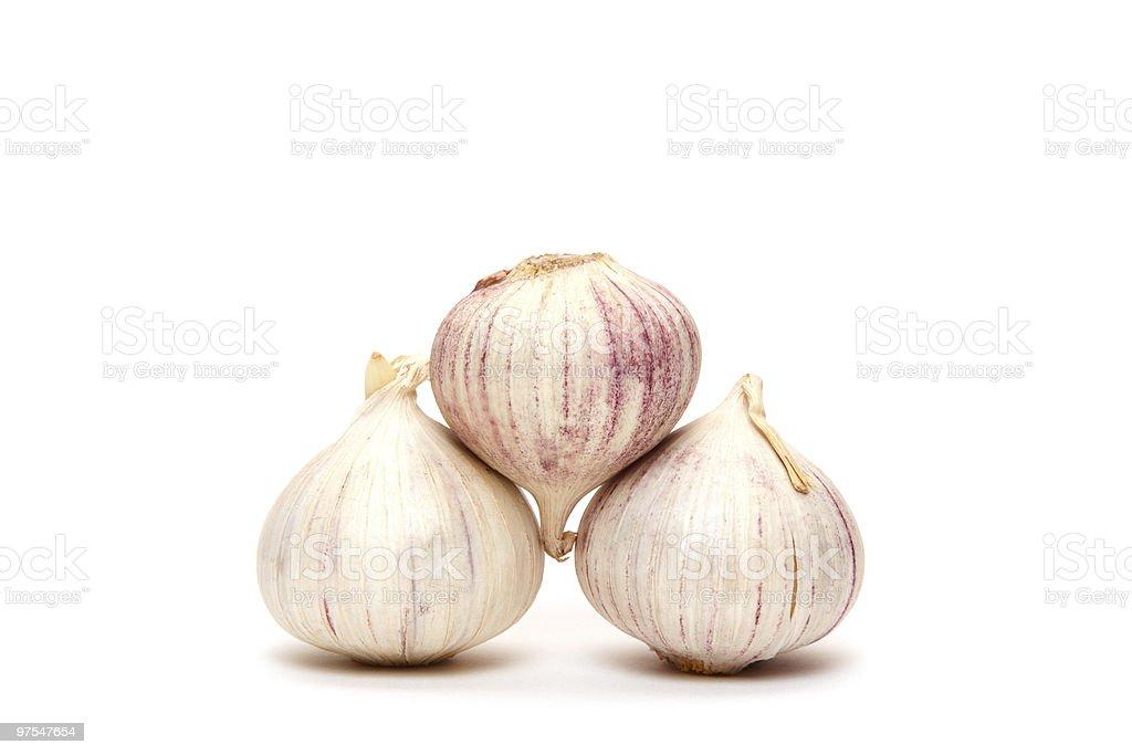 garlics pyramid royalty-free stock photo