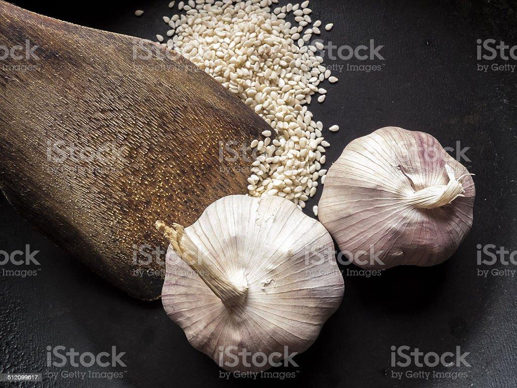 garlics sesame and turner stock photo