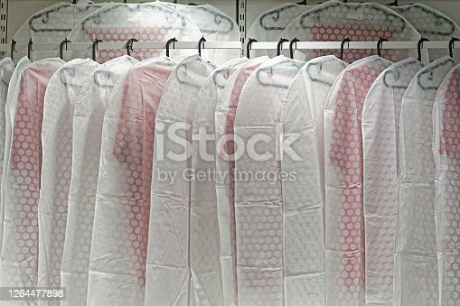 Hanging garment clothing covers dust protection in closet