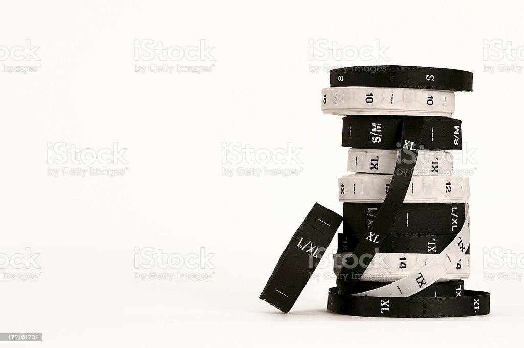 Garment Size Labels royalty-free stock photo