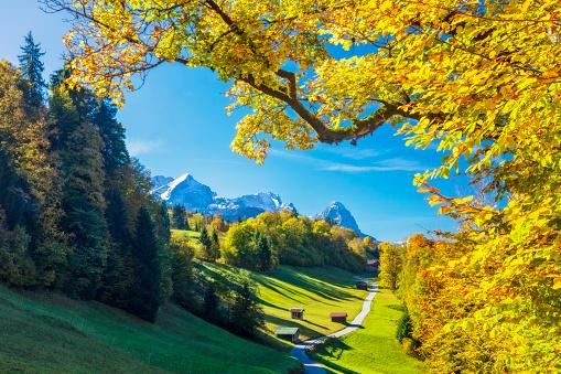 Garmisch Partenkirchen in autumn - Wamberg