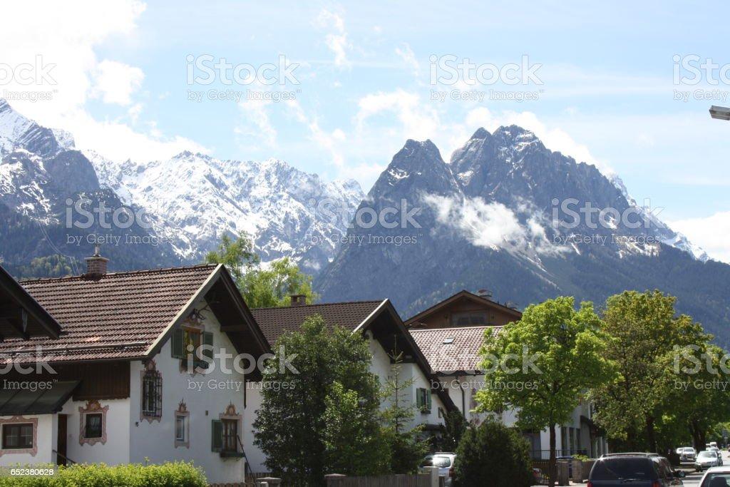 Garmisch - Patenkirchen - Zugspitze stock photo