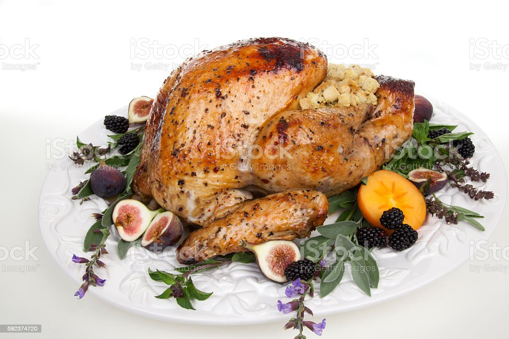 Garnished Turkey On Serving Tray Stock Photo Download Image Now Istock