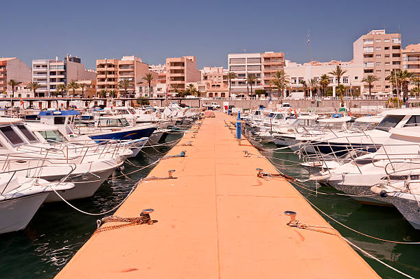 Garrucha Harbor and Marina stock photo