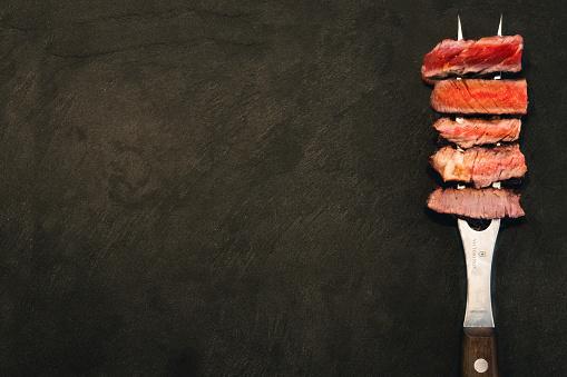 Garststufen Rindersteak dry aged prime rib eye steak Gargrade
