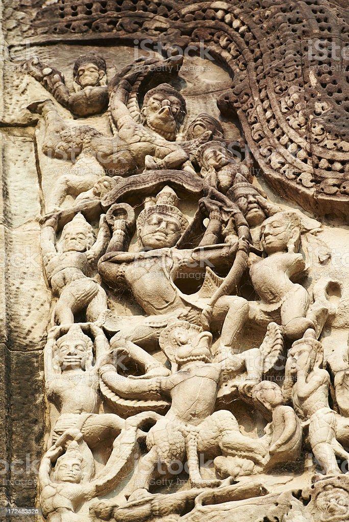 Garuda and Vishnu stock photo