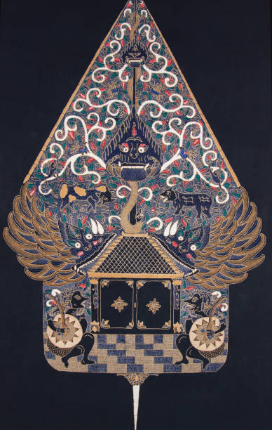Garuda Batik detailed textile art in Winotosastro stock photo