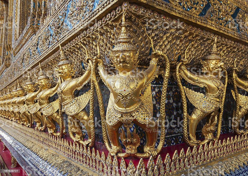 Garuda in Wat Phra Kaew Grand Palace royalty-free stock photo