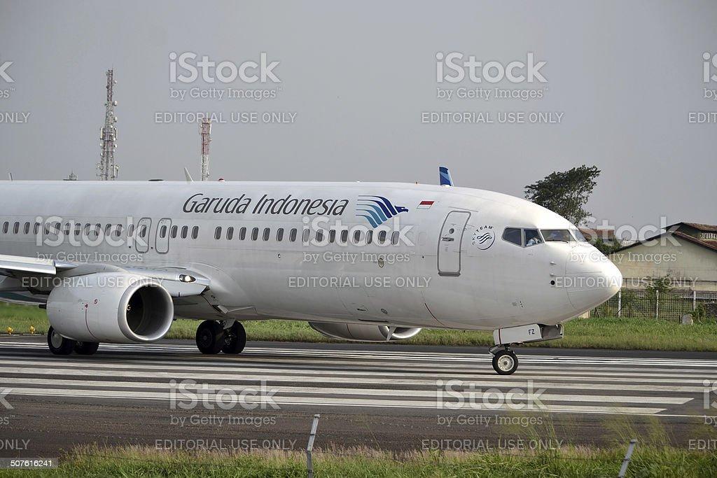 Garuda Indonesia airline stock photo