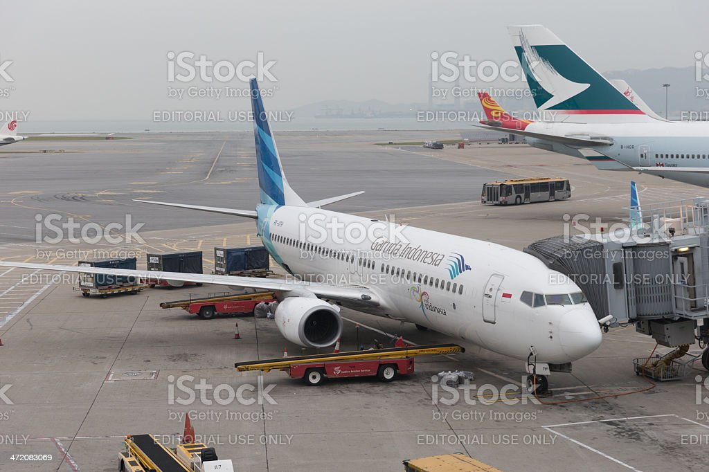 Garuda Indonesia Boeing 737 stock photo