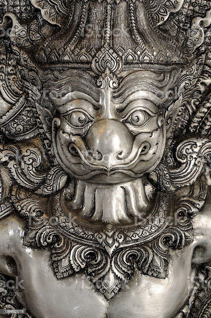 Garuda Lacquer work and silver stock photo