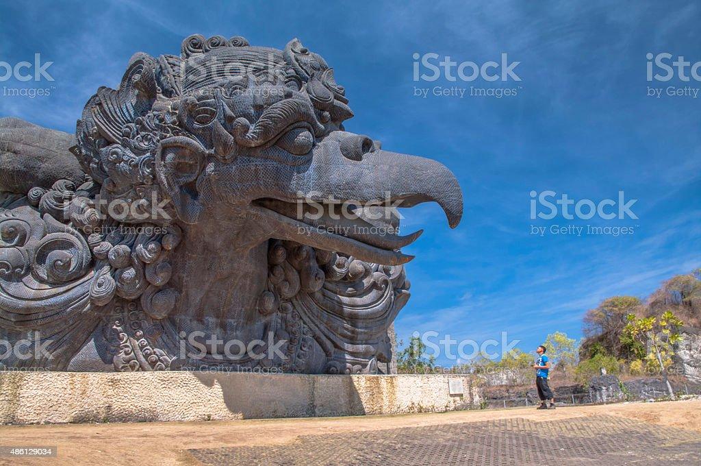 Garuda statue in GWK cultural park Bali Indonesia stock photo