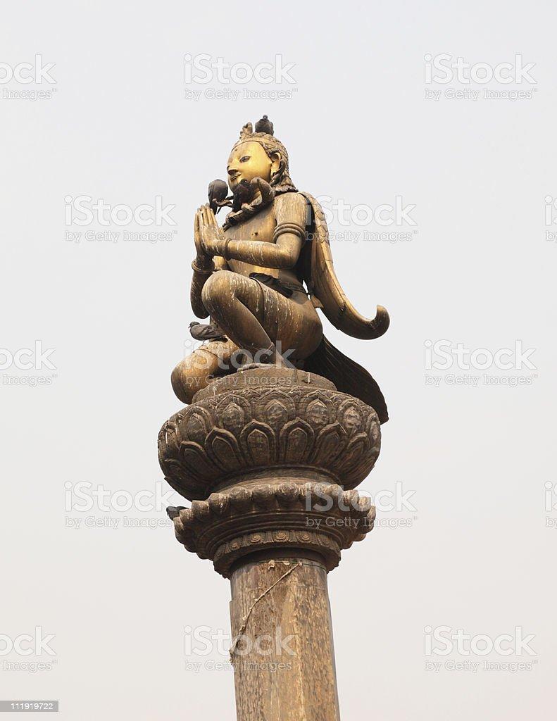 Garuda statue Patan Durbar Nepal royalty-free stock photo