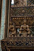 Scene from the Grand Palace and Wat Phra Kaew Bangkok, Thailand