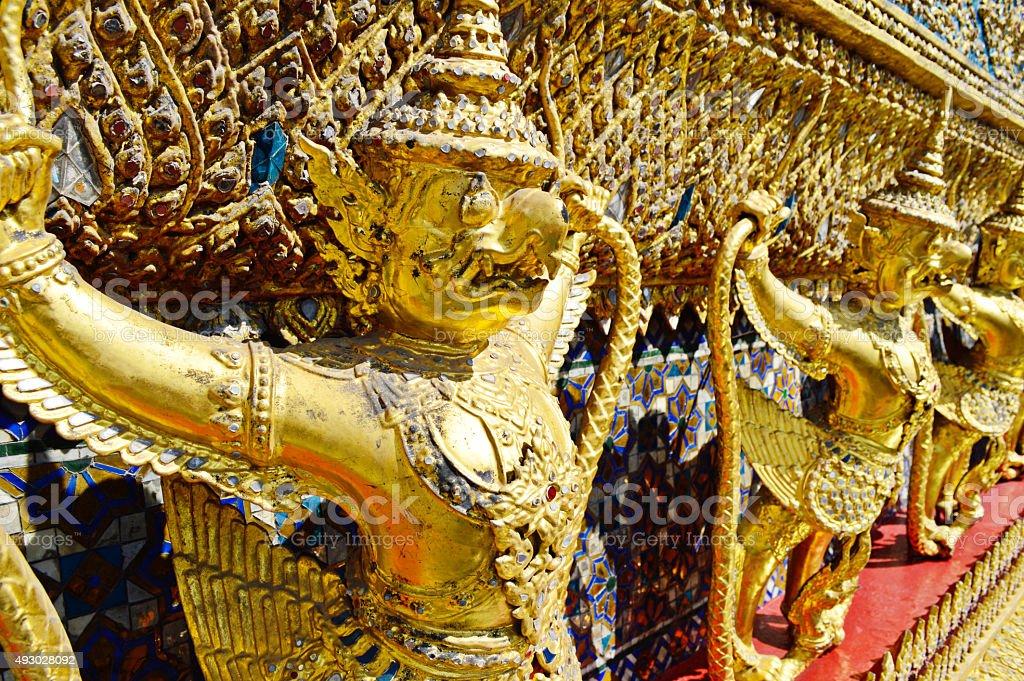 Garuda Wat Phra Kaew Bangkok Thailand stock photo