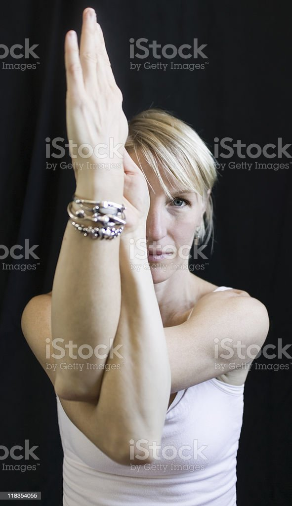 Garudasana, Eagle Pose stock photo