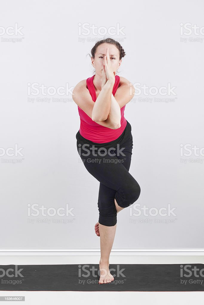Garudasana royalty-free stock photo