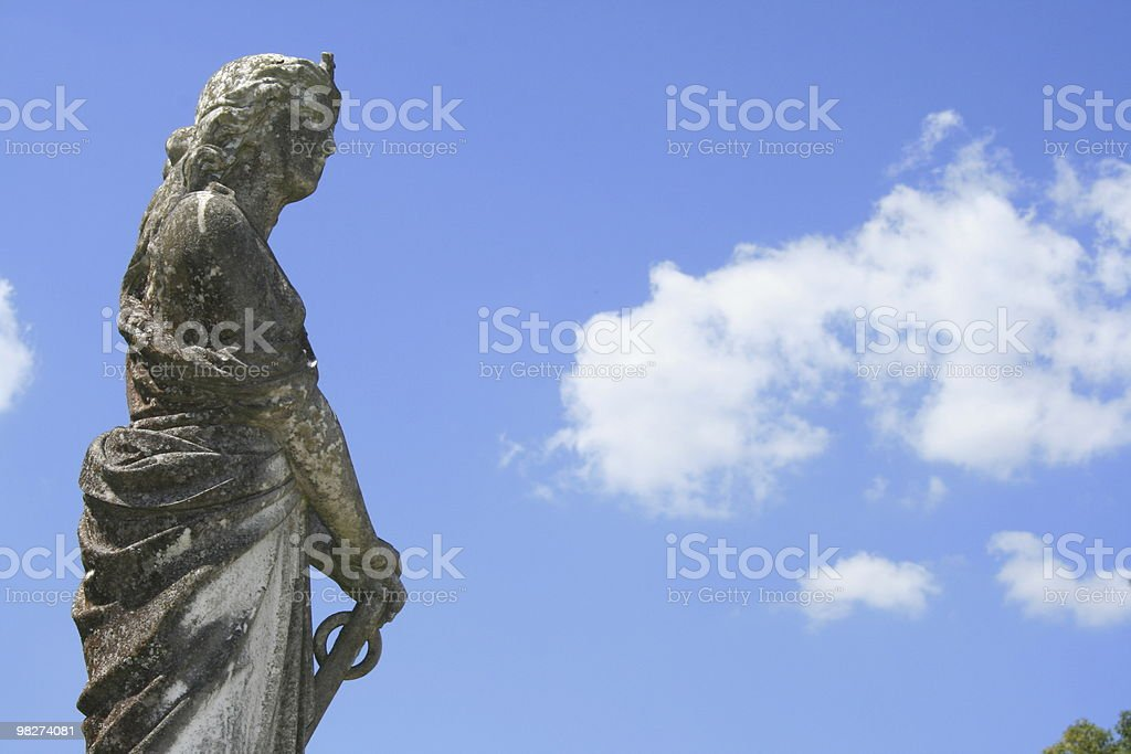 garvestone woman with sword royalty-free stock photo