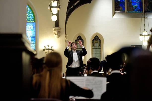 Gary White Conducting Philadelphia Sinfonia Youth Orchestra stock photo
